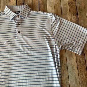 FootJoy men's striped short sleeve polo shirt